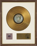 Music Memorabilia:Awards, Larry Knechtel Baby I'm-A Want You RIAA Gold Album Award.The first Bread album that Knechtel played on as a ful... (Total: 1Item)