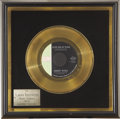 Music Memorabilia:Awards, Larry Knechtel Poor Side of Town Gold Single Award. Knechtelwas a favorite of the rocker from Louisiana, Johnny... (Total: 1Item)