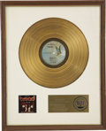 Music Memorabilia:Awards, Larry Knechtel Best of Bread RIAA Gold Album Award. In 1973, the popular group Bread released this greatest hits... (Total: 1 Item)