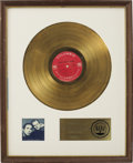 Music Memorabilia:Awards, Larry Knechtel Bookends RIAA Gold Album Award. Simon &Garfunkel's album held down the #1 position on Billboard'...(Total: 1 Item)
