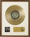 Music Memorabilia:Awards, Larry Knechtel Best of Bread Volume II RIAA Gold AlbumAward. Scarcely more than a year after the band's first g...(Total: 1 Item)