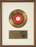 Music Memorabilia:Awards, Larry Knechtel Mrs. Robinson RIAA Gold Single Award. Thesong from the movie The Graduate won Record of the Yearfor... (Total: 1 Item)