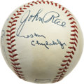 Autographs:Baseballs, 1972 American League Championship Series Umpires Multi-SignedBaseball. A total of seven major league umpires who worked th...