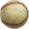 Autographs:Baseballs, 1971 World Series Umpires Multi-Signed Baseball. In 1971 Hall ofFame umpire Nestor Chylak worked his fourth of five Fall C...