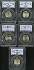 Statehood Quarters, 2007-P 25C Set of 5 Statehood Quarters, MT Satin Finish MS68 PCGS.The Set includes Montana, Washington, Idaho, Wyoming and ...(Total: 5 Item)