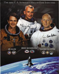 Autographs:Celebrities, Joe Allen, Bruce McCandless, and Gordon Fullerton. Signed 2005 U.S.Astronaut Hall of Fame Inductees Poster....