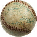 Autographs:Baseballs, Vintage Stars Multi-Signed Baseball. A great collection of vintage star signatures appears on the surface of the provided O...