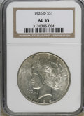 Peace Dollars: , 1926-D $1 AU55 NGC. NGC Census: (75/2453). PCGS Population(119/4058). Mintage: 2,348,700. Numismedia Wsl. Price for NGC/PC...