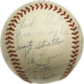 Autographs:Baseballs, 1941 Chicago White Sox Team Signed Baseball. Hall of Famers LukeAppling and Ted Lyons highlight this high-quality vintage ...