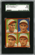 Baseball Cards:Singles (1930-1939), 1935 Goudey 4-IN-1 Campbell/Goodman/Kampouris/Myers SGC EX-MT 80. Four Cincinnati Reds from the 1935 season are seen here f...