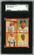 Baseball Cards:Singles (1930-1939), 1935 Goudey 4-in-1 Bishop/Cissell/Cronin/Reynolds SGC EX 60. Nicecentering and amazing color retention considering its age...