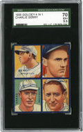 Baseball Cards:Singles (1930-1939), 1935 Goudey 4-in-1 Berry/Burke/Kress/Vance SGC EX+ 70. Hall of FameBrooklyn Dodgers hurler Dazzy Vance is joined by Washin...