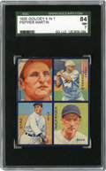 Baseball Cards:Singles (1930-1939), 1935 Goudey 4-in-1 Byrd/MacFayden/Martin/O'Farrell SGC NM 84.Popular All-Star member of the St. Louis Cardinals' Gashouse ...