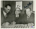 Autographs:Photos, Larry MacPhail Signed Photograph. In 1945 construction magnate DelWebb and Larry MacPhail partnered to purchase the New Yo...