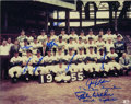 """Autographs:Photos, 1955 Brooklyn Dodgers Team Signed Photograph. Brilliant 8x10""""photograph depicts the 1955 Brooklyn Dodgers -- the first Wor..."""