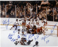 """Hockey Collectibles:Others, 1980 Team USA Olympic Hockey """"Miracle On Ice"""" Team Signed Oversized Photograph. Team USA shocked the sports world in 1980 w..."""