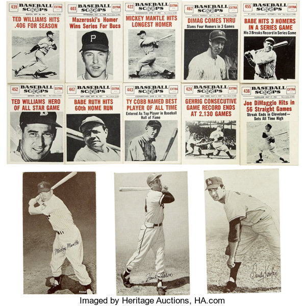 1961 Nu Card Baseball Scoops Collection Of 128 Highlights