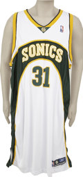 Basketball Collectibles:Uniforms, 2004-05 Robert Swift Game Worn Jersey. After turning down an offerfrom Pac-10 power USC, center Robert Swift went to the N...