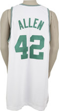 Basketball Collectibles:Uniforms, 2004-05 Tony Allen Game Used Jersey. The Boston Celtics'other Allen, Tony, wore this classic white home garment.Alle...