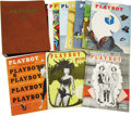 Movie/TV Memorabilia:Memorabilia, Playboy Vintage Binder w/Issues #2-12 (1954). Copies of thefirst year of Playboy are the most difficult to find...(Total: 12 Items Item)
