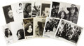 "Music Memorabilia:Photos, John Lennon and Yoko Ono Promo Photos. Set of 13 b&w 8"" x 10""promo photos and one color slide, all featuring images of John...(Total: 1 Item)"