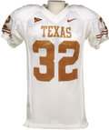 Football Collectibles:Uniforms, 2003-04 Cedric Benson Game Worn Jersey. Often compared to Ricky Williams for his running style, college choice and distinct...