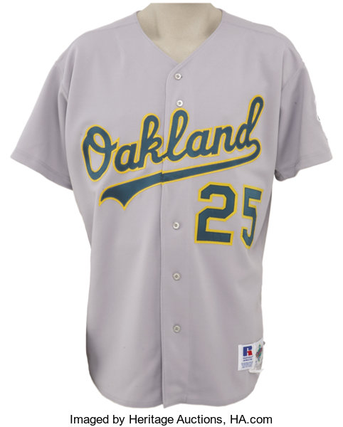 new arrivals 6c88a aea5b 1994 Mark McGwire Game Worn Jersey. Tough patch style makes ...