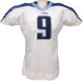 Football Collectibles:Uniforms, 2002 Steve McNair Game Worn Jersey. The star quarterback for the Tennessee Titans led his team all the way to the AFC Champ...