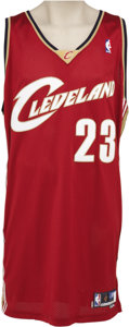 Basketball Collectibles:Uniforms, 2003-04 Lebron James Game Worn Rookie Jersey. Almost as if thebasketball gods knew that we needed something to fill the vo...
