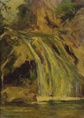 Fine Art - Painting, American:Contemporary   (1950 to present)  , FREDERICK WILLIAM BECKER (American, 1888-1974). TurnerFalls. Oil on illustration board. 15-7/8 x 11-5/8 inches (40.3x ...