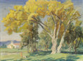 Fine Art - Painting, American:Modern  (1900 1949)  , ALBERT SHELDON PENNOYER (American, 1888-1957). Picnic under theTrees. Oil on masonite. 12 x 16 inches (30.5 x 40.6 cm)...