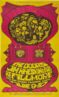 Music Memorabilia:Posters, The Doors Fillmore Concert Poster, BG-67 (Bill Graham, 1967). TheDoors are top-billed for the first time on a Fillmore post...(Total: 1 Item)