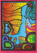 "Music Memorabilia:Posters, Jefferson Airplane ""Benefit for Proposition P"" Fillmore ConcertPoster (1967). Artist Jim Blashfield pulled out all the stop...(Total: 1 Item)"