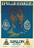 "Music Memorabilia:Posters, 13th Floor Elevators Zebra Man Avalon Ballroom ConcertPoster, FD-28 (Family Dog, 1966) 14.25"" x 20"". ..."