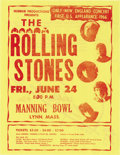 Music Memorabilia:Posters, Rolling Stones Manning Bowl Concert Handbill (Hubbub Productions,1966). The Stones began their 1966 North American tour wit...(Total: 1 Item)