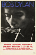 Music Memorabilia:Posters, Bob Dylan Norfolk Municipal Auditorium Concert Handbill (1966). Anice, three-color handbill, featuring a picture of Bob pla...(Total: 1 Item)