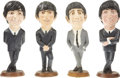 "Music Memorabilia:Memorabilia, Beatles Complete Set of Statuettes. A rare, complete set of 18"" painted chalk Beatles statuettes released by Esco Company in... (Total: 1 Item)"