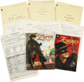 Movie/TV Memorabilia:Memorabilia, Henry Calvin's Zorro Memorabilia. Includes a copy of theZorro Coloring Book, Four Color Comics issue #9...(Total: 1 Item)