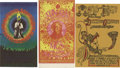 Music Memorabilia:Posters, Detroit-Area Rock Concert Postcard Group (1968-69). Three unusualpostcards for Detroit shows, including Sun Ra/Led Zeppelin...(Total: 3 Item)
