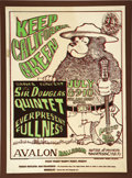 "Music Memorabilia:Posters, Sir Douglas Quintet ""Keep California Green"" Avalon Concert Poster,FD-16 (Family Dog, 1966). Smokey the Bear trades in his s...(Total: 1 Item)"
