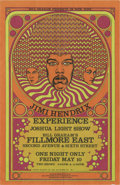 Music Memorabilia:Posters, Jimi Hendrix Experience Fillmore East Concert Postcard (BillGraham, 1968). Wild, vividly colored postcard, with a great ill...(Total: 1 Item)