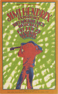 Music Memorabilia:Posters, Jimi Hendrix Experience Masonic Temple Concert (Russ Gibb, 1968).One of the best of the Detroit postcard designs decorates ...(Total: 1 Item)