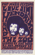 Music Memorabilia:Posters, Jimi Hendrix Rhode Island Concert Postcard (Pop Music Festival,1968). A striking design by the Mad Peck distinguishes this ...(Total: 1 Item)