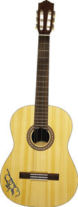 Music Memorabilia:Autographs and Signed Items, Joe Walsh Autographed Yamaha Guitar. A natural finish Yamaha C-45Macoustic guitar signed on the body by Walsh in blue felt ...(Total: 1 Item)