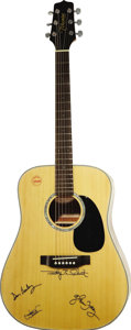Music Memorabilia:Autographs and Signed Items, Eagles Autographed Takamine Guitar. A Takamine G Series six-stringacoustic guitar signed on the front in black felt tip by ...(Total: 1 Item)