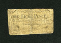 Colonial Notes:North Carolina, North Carolina March 9, 1754 8d Very Good....