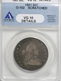 Early Half Dollars, 1801 50C --Scratched--ANACS. VG10 Details....