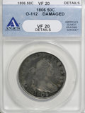 Early Half Dollars, 1806 50C 6 Over Inverted 6--Damaged--ANACS. VF20 Details....
