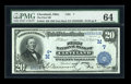 National Bank Notes:Ohio, Cleveland, OH - $20 1902 Date Back Fr. 642 The First NB Ch. # (M)7....