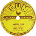 "Music Memorabilia:Recordings, Elvis Presley ""Mystery Train"" 78 (Sun 223, 1955). Elvis' finalrecord for Sun was also his most successful, with both sides ...(Total: 1 Item)"